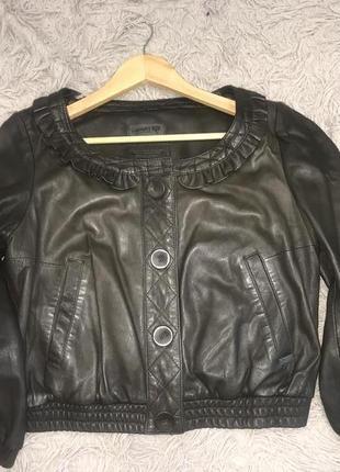 Укорочённая курточка из натуральной кожи