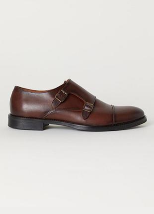 Оригинальные туфли с пряжками от бренда h&m разм. 45