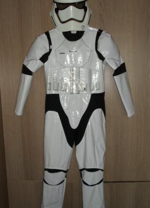 Костюм карнавальный штурмовик с маской, star wars, 9-10лет рост 140