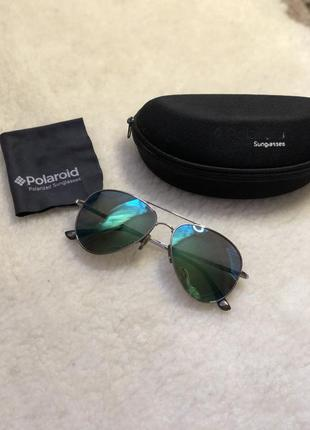 Зеркальные очки хамелеоны polaroid оригинал полароид авиаторы пилоты