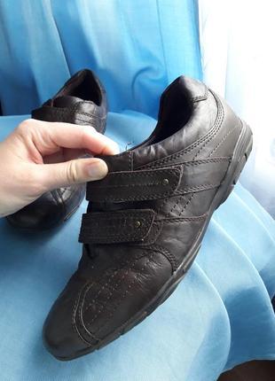 Комфортные кожаные кроссовки коричневые натуральная кожа medicus германия