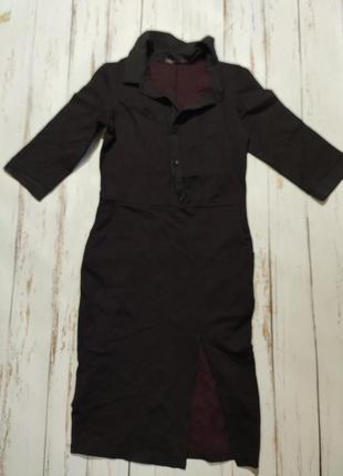 Черное строгое  платье