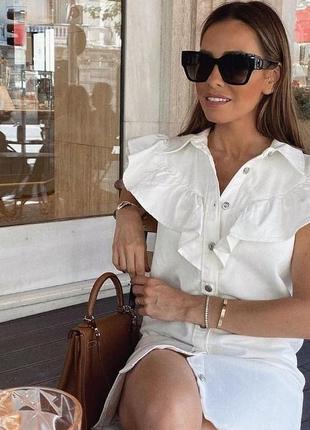 Красивое джинсовое платье zara