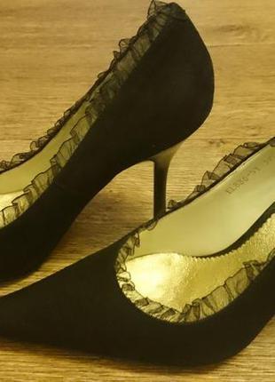 Туфли ellenka натуральный замш