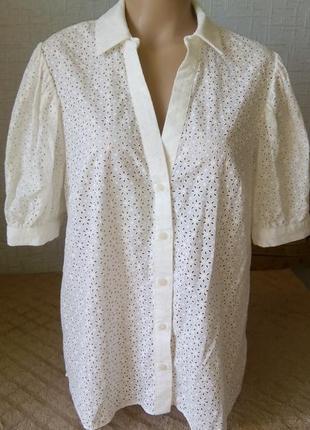 Выбитыя красивая блузка f&f