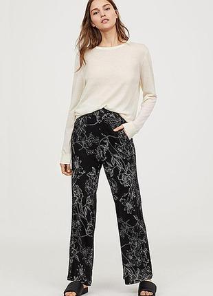 Широкие трикотажные брюки h&m