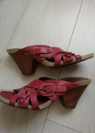 Шлепанцы кожаные, 39 размер (6)