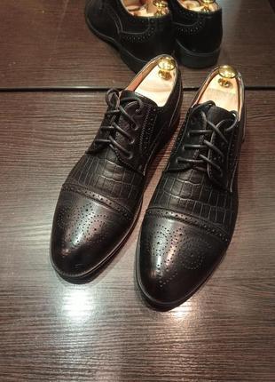Стильные туфли, дерби, оксворды кожзам! 41 размер