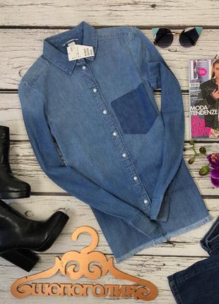 Актуальная джинсовая рубашка с бахромой  bl3775  h&m