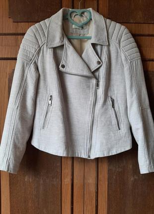 Куртка косуха тканевая натуральная h&m