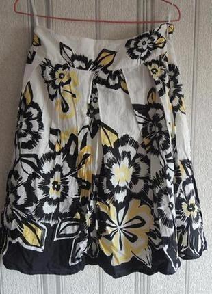 Женская юбка миди из натуральной ткани m&s