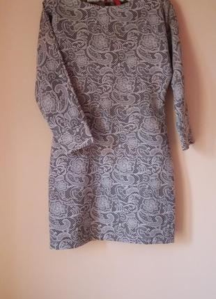 Облегающее платье жаккард / коротке плотне плаття