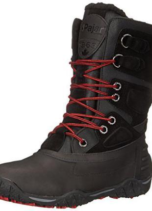 Ботинки женские зима pajar canada размер  39 кожа цвет черный