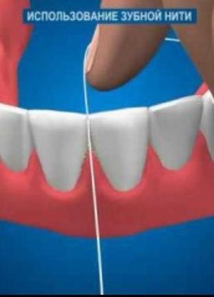 Зубная нитка вощенная мятным вкусом johnson&johnson3 фото