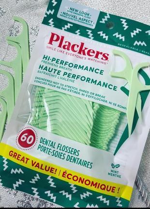 Зубочистки с зубной ниткой с мятным вкусом plackers, 60 штук