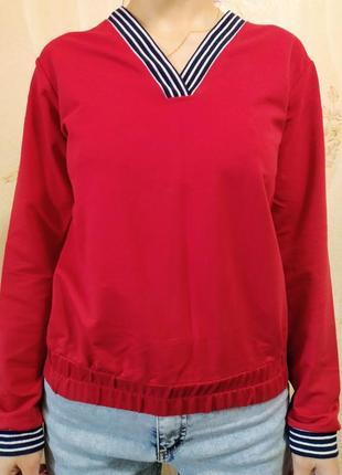 Стильный джемпер пуловер кофта с v- образным вырезом