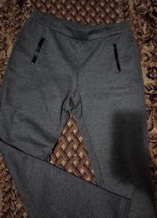 Штаны брюки в мелкую гусиную лапку