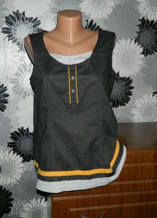 Блуза коричневая cecil l 14 48