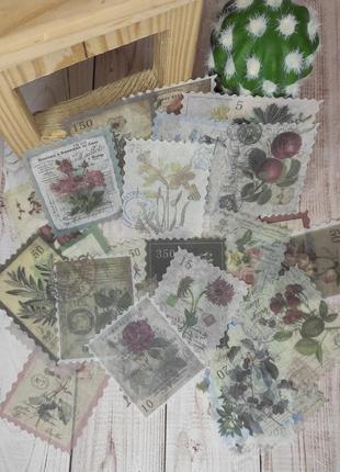 Набор марок-цветов