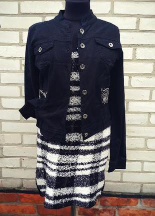 Идеальное шерстяное платье без рукавов  травка в клетку marc cain