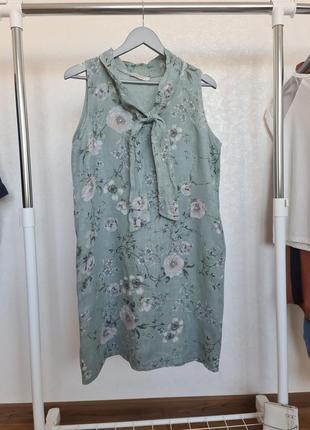 Плаття лен в цветок