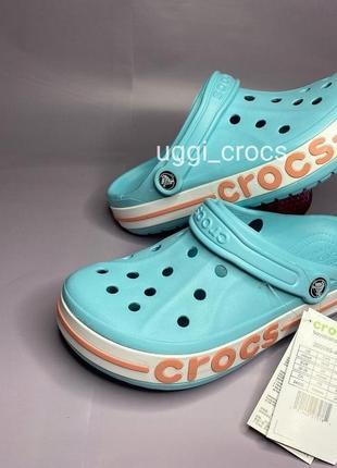 Crocs bayaband ice blue melon крокс сабо баябенд кроксы шлепки клоги 36,37,38,39 р
