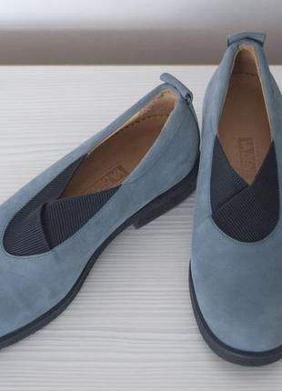 Новые нубуковые туфли 37 р. vabene zurich