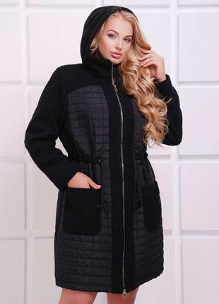 Модное осеннее пальто для пышных форм