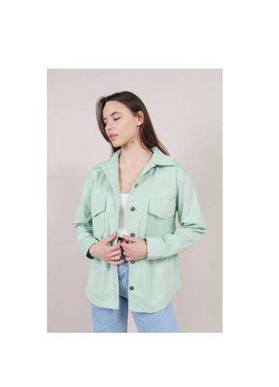 Куртка рубашка фисташковый спрингфилд
