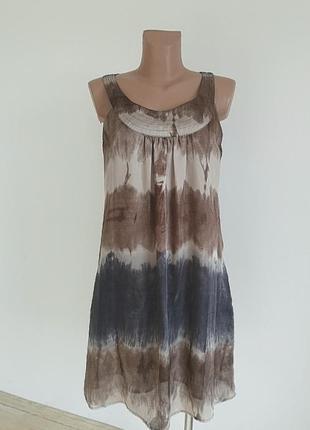 Платье шёлковое деграде, размер m-s