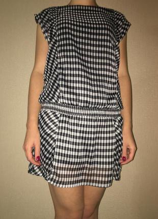 Коротке плаття в клітинку/короткое платье в клетку
