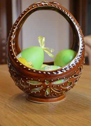 Ваза( корзинка) керамічна