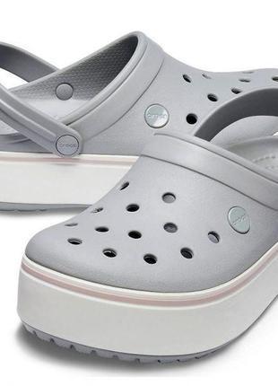 Crocs crocband platform clog кроксы