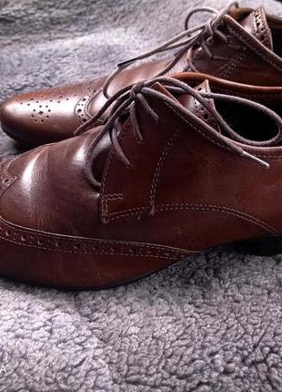 Фирменные туфли ботинки asos 44р натуральная кожа