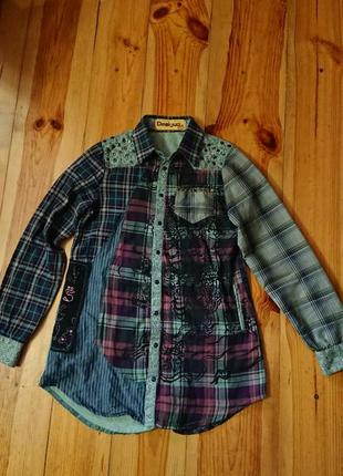 Брендова фірмова рубашка сорочка блуза desigual,оригінал.