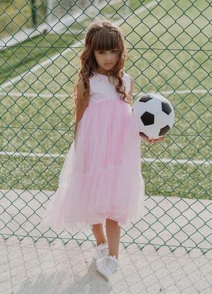 Святкова рожева сукня для дівчинки на урочисту подію мія