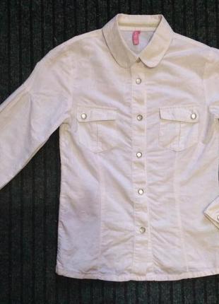 Белая школьная рубашка, блузка на рост 140 см