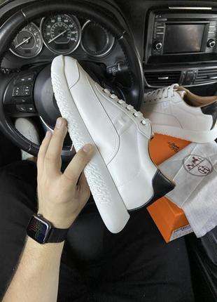 Кроссовки  гермес белые