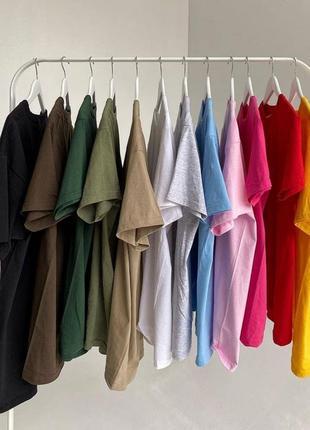 Oversize базовые футболки/100% хлопок🌾
