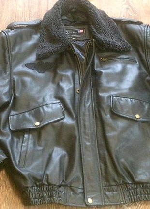 F.t.c.- line - фирменная кожаная куртка (пилот) разм.xl