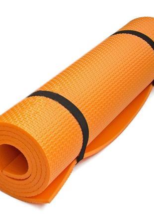 Фітнес килимок lanor orange фитнес коврик каремат 180*60*5 см