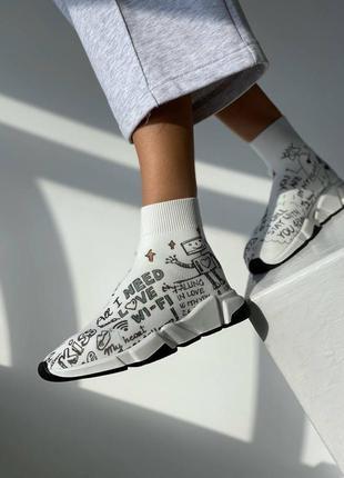 Женские кроссовки-носки speed trainer от известного дома моды