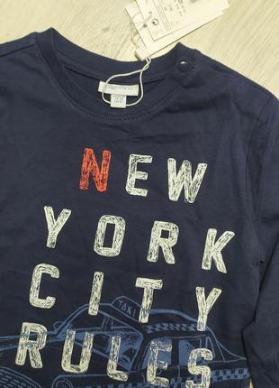 Реглан, футболка с длинным рукавом рост 92 см, ovs