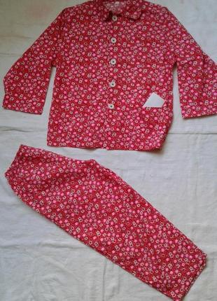 Коттоновая пижама на 5-6 лет