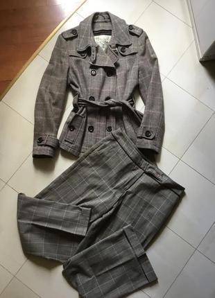 Тёпленький костюм в английском стиле. размер 14 +  наш 48 - 50.