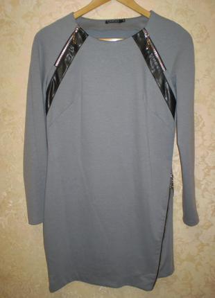 Платье cardo с кожаными вставками