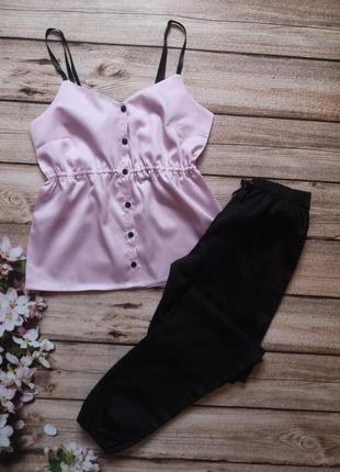 Сатиновая пижамка, красивая хлопковая пижама