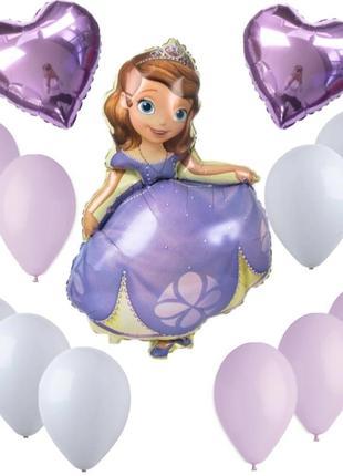Набор шаров с принцессой софией