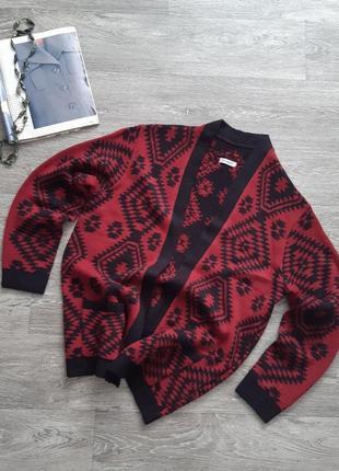 Sale удлиненный вязаный кардиган damart кофта свитер кардіган