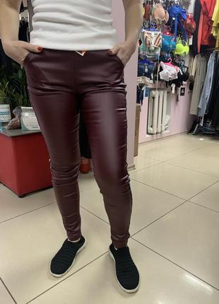 Эко кожа лосины брюки
